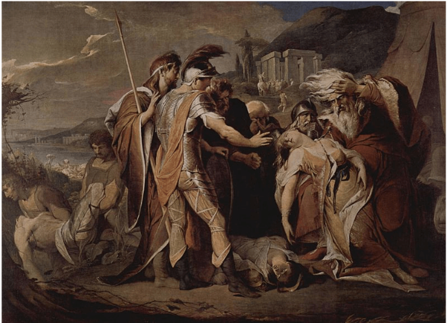 King Lear Mourns Cordelia's Death, by James Barry.