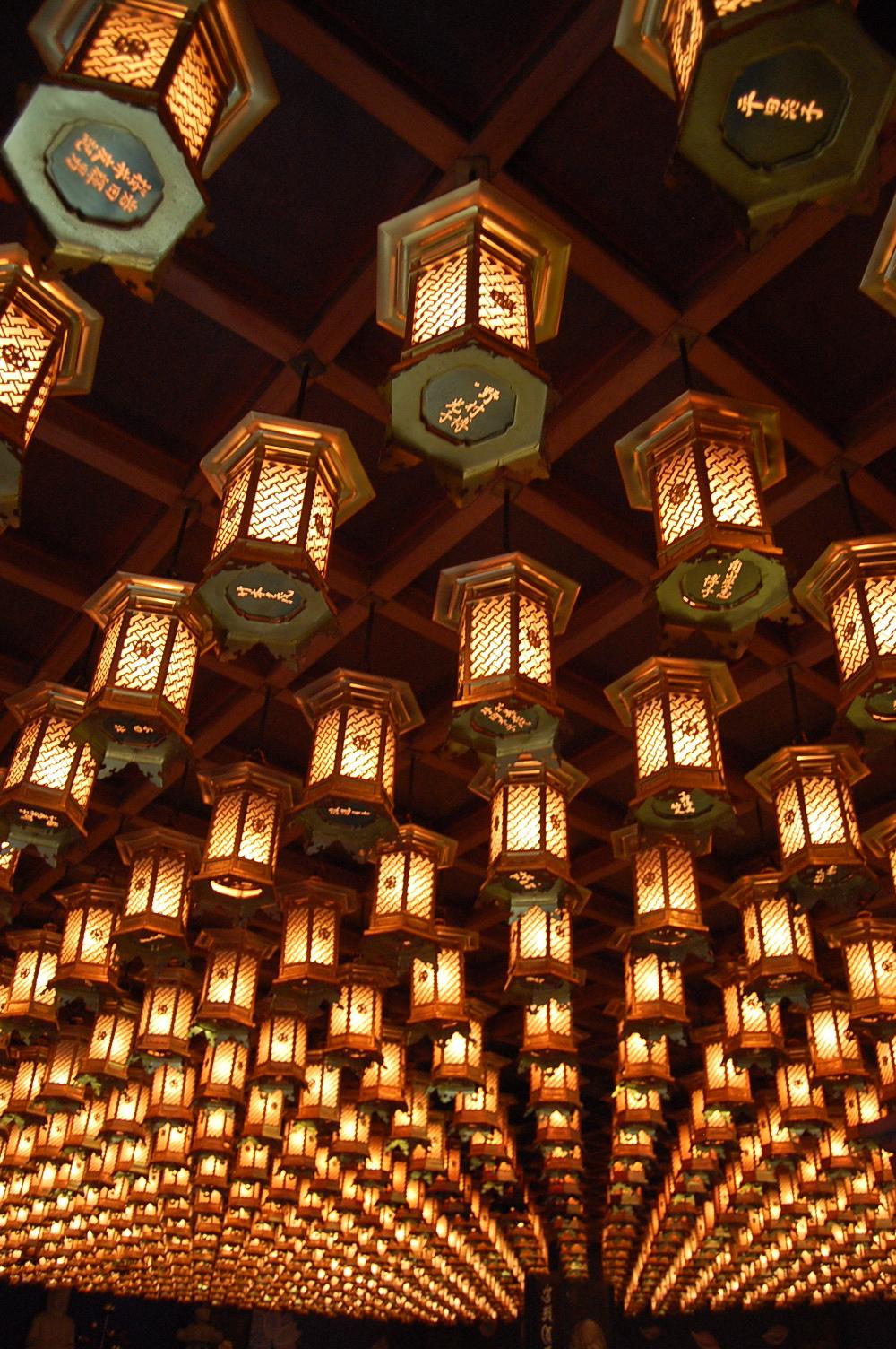 Daishoin lanterns, Miyajima, November 2011.