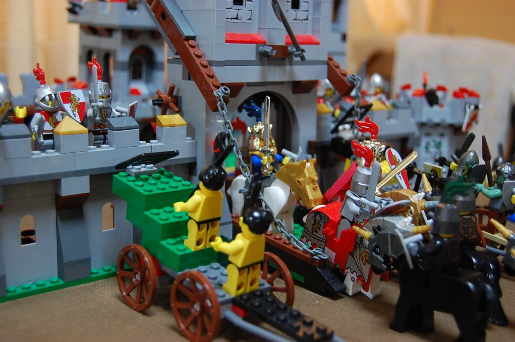 Lego Red Lions Castle besieged.