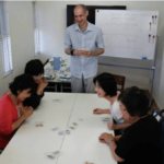 Playing English Karuta, Okeiko House, October 2014