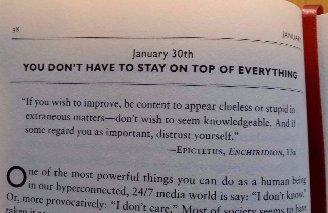 The Daily Stoic reading for January 30th.