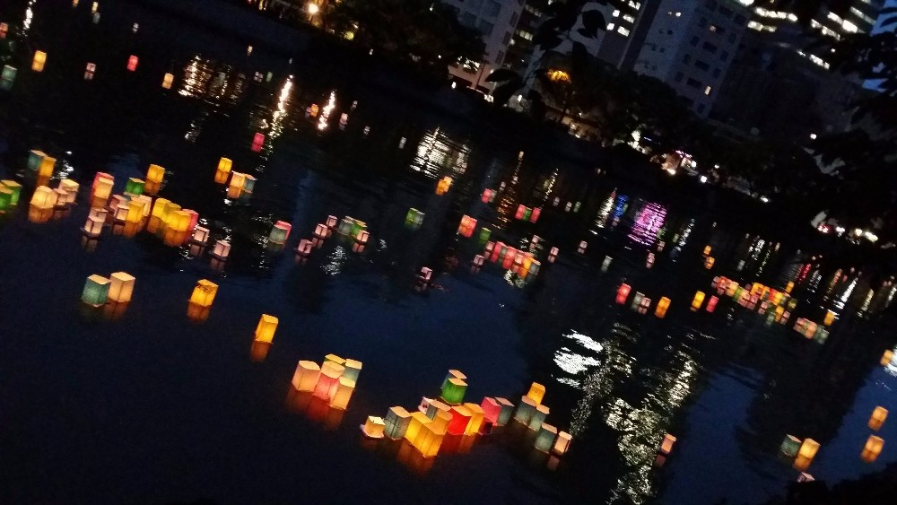 floating lantern ceremony hiroshima